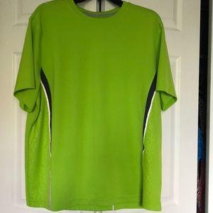 Fila men's running tee shirt in lime green